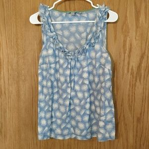 Boden printed tank with ruffle detail